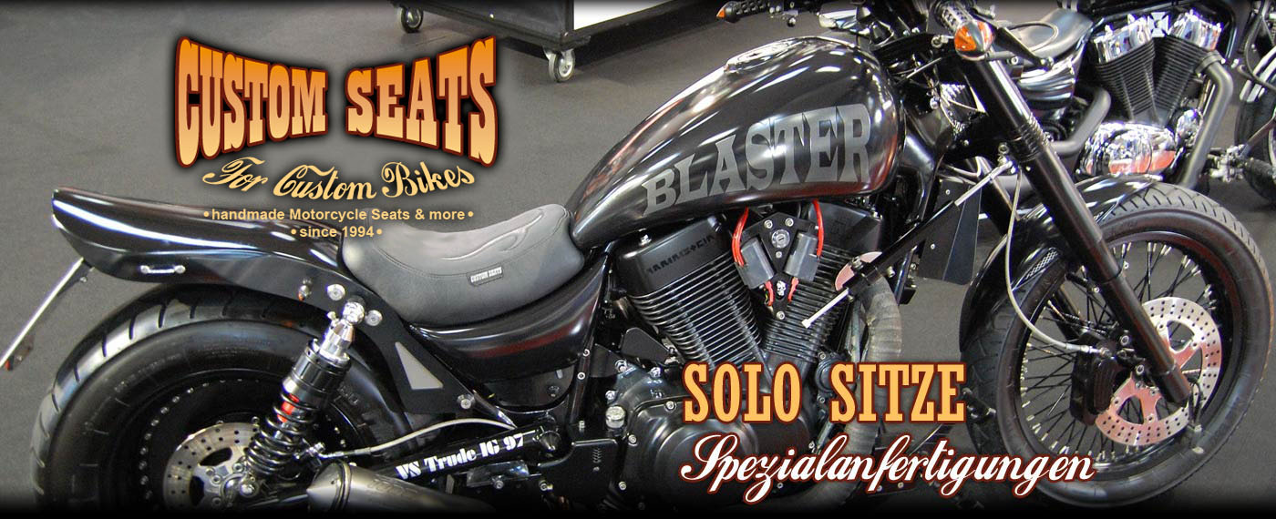 CUSTOM SEATS ® Lederarbeiten - Custom Motorradsitzbänke